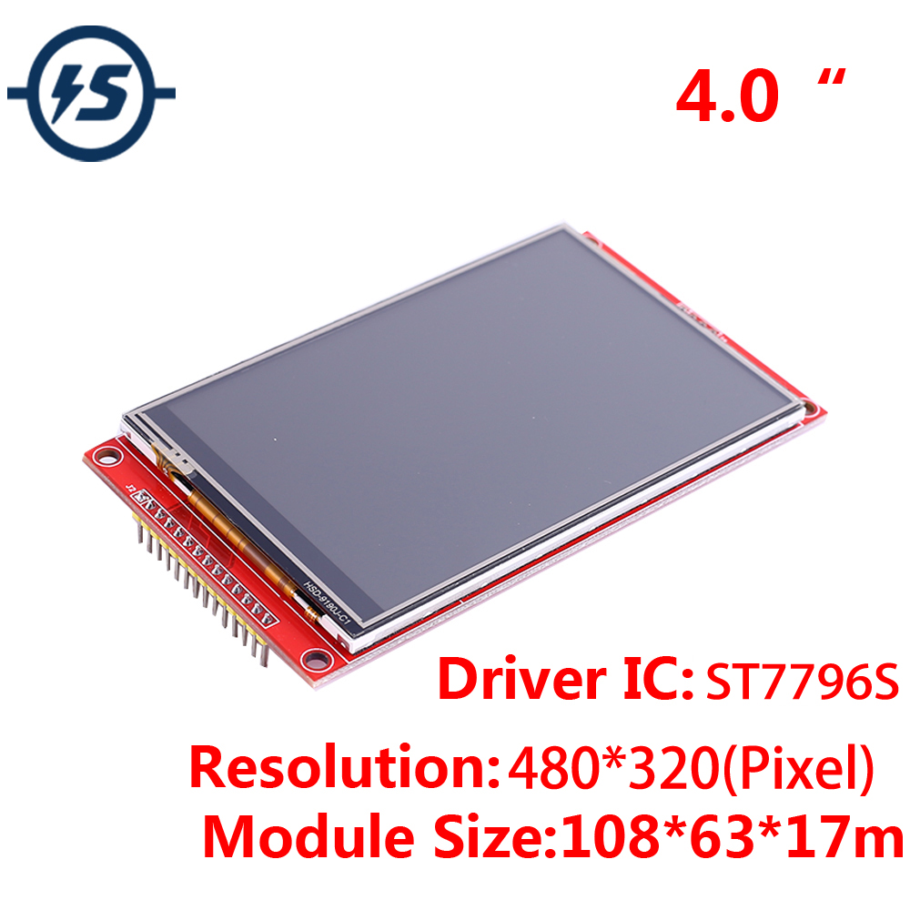 4.0inch SPI <font><b>480x320</b></font> RGB <font><b>TFT</b></font> <font><b>Touch</b></font> LCD Display Module ST7796S Driver 480*320 3.3V/5V IPS LCD with SD Card Socket image