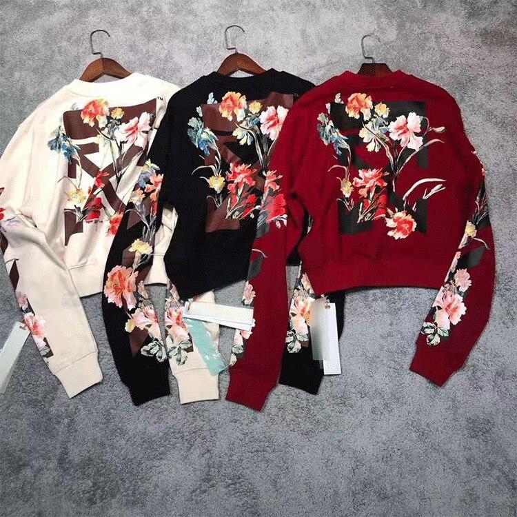 Women Hoodie  Printed Pattern Crew Neck Sweatshirt