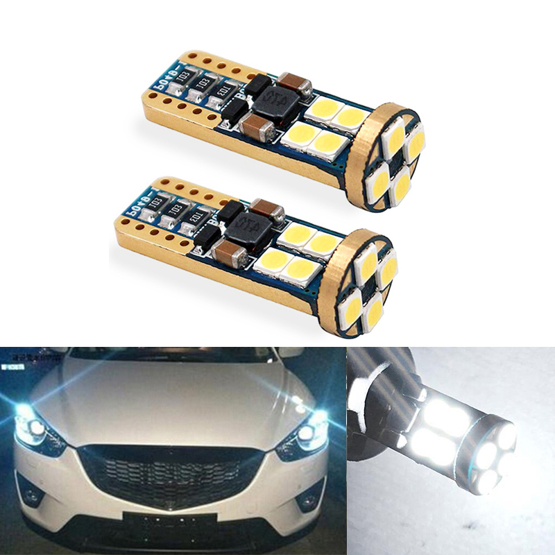 2x T10 3030SMD <font><b>LED</b></font> Samsung Wedge Lights Eyebrow Eyelid Light Bulb For <font><b>Mazda</b></font> 323 626 cx-5 3 6 8 Atenza <font><b>cx7</b></font> cx-7 mx5 cx3 rx8 cx5 image