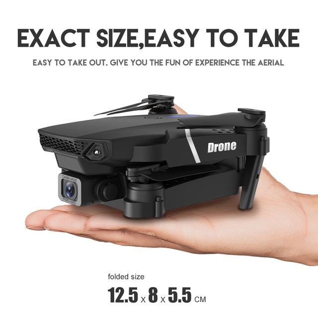 XKJ 2021 New E88 Pro Drone With Wide Angle HD 4K 1080P Dual Camera Height Hold Wifi RC Foldable Quadcopter Dron Gift Toy 2