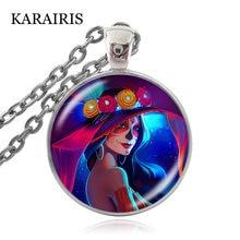 Karairis модное ювелирное ожерелье на Хэллоуин стеклянный купольный