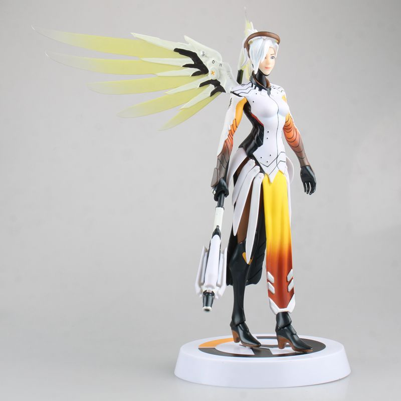 Hasbro Overwatch Angela Ziegler Mercy Action Figures Model Toy with Accessories  Blizzard Video Game Characters 2