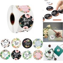 500pcs Round Labels Thank You Gift Sealing Sticker Kraft Paper Candy Gift Box Bag Wedding Holiday birthday party decoration tags