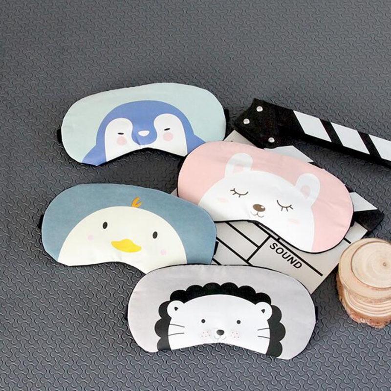 Cute Cartoon Animal Eyeshade Sleep Mask Rest Travel Sleeping Eye Mask Eye Massager Eye Blindfold Cover Eye Patch Beauty Tools