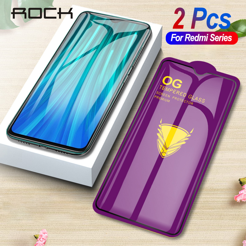 Rock 2pcs Tempered Glass For Xiaomi Redmi Note 8 7 Pro 8T Screen Protector Protective Glass For Redmi K20 7 Pro 8 7A 8A Film