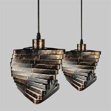 Подвесной светодиодный светильник в стиле ретро из кованого
