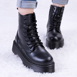 Women Boots For Martin Boots Platform Ankle Boots Autumn Winter Shoes Genuine Leather Punk Shoes Women Booties Botas Mujer