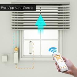 Automático DIY inteligente motorizado de cadena de persianas Motor de accionamiento alimentado por Panel Solar y cargador incorporado Bluetooth APP Control