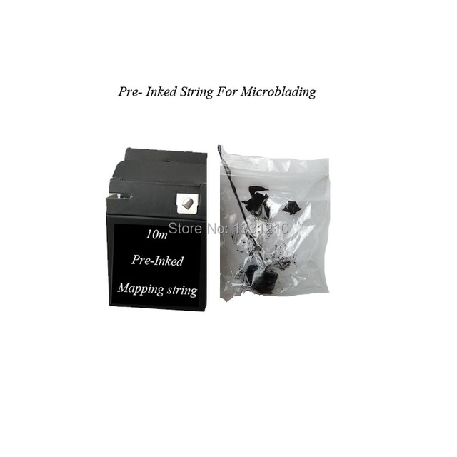 Pre-Inked  Microblading MAPPING STRING Eyebrow Marker thread  For Brow Mapping - Measuring Tool 1