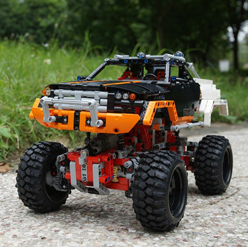 20011 Technic series Motor Power 4x4 Crawler Assembly Car Set Model Kit Building Blocks Bricks Compatible With legoing 41999 TOY 3