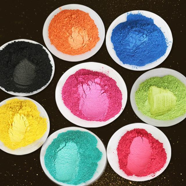 Lot Color DIY Powder Healthy Natural Mineral Mica Powder DIY Pigment Colorant Makeup Eyeshadow Soap Powder For Lips Make Up 4