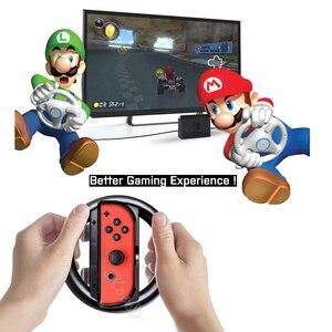 Image 5 - Nintendo switch ns kit de acessórios de console, bolsa de armazenamento para console, alça de controle, caixa de silicone para jogos de nintendo switch