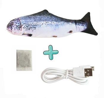 Moving Fish Cat Toy Electronic Flopping Cat Kicker Fish Toy Catnip Fish Toys for Cats Pet Supplies Funny Chew Toy for Indoor Cat 16