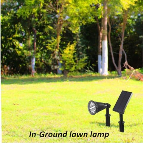 em 1 conjunto solar spotlight gramado luz