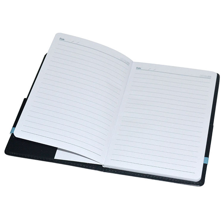 48K Deli advanced business leather notebook business meeting diary office stationery thickened notebook