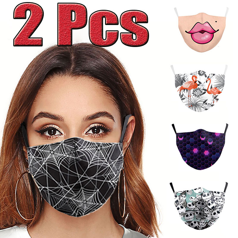 2 Pcs New Unisex Anti-Infection Virus Face Mouth Masks Cover Reusable Protection Dust Breath Proof Bacteria Mask Washable Masks