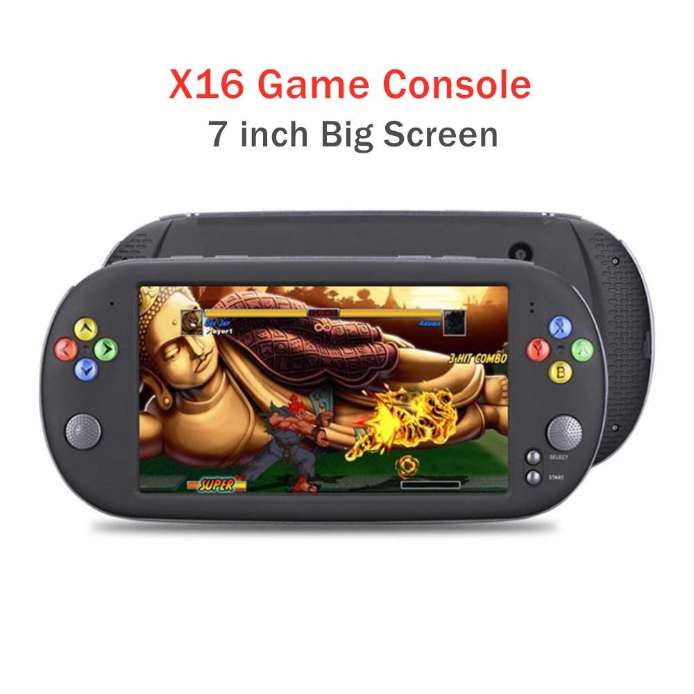 Novo console de jogos de vídeo 7.0 Polegada tela portátil retro handheld consoles TV-OUT suporte cps/gba/md/fc/gb/gbc ou gamepad