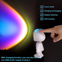Colorful Projector Lights Light Show Dynamic / Static Pictures Romantic 360° Removable USB Charging Party Holiday Decoration