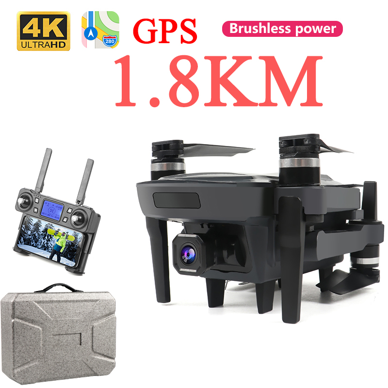 Drone 4k 1800 Meter Gps Profissional Brushless Mini Drones With Camera Hd Selfie Long Range Battery Life Rc Drone 4k Gps Gesture