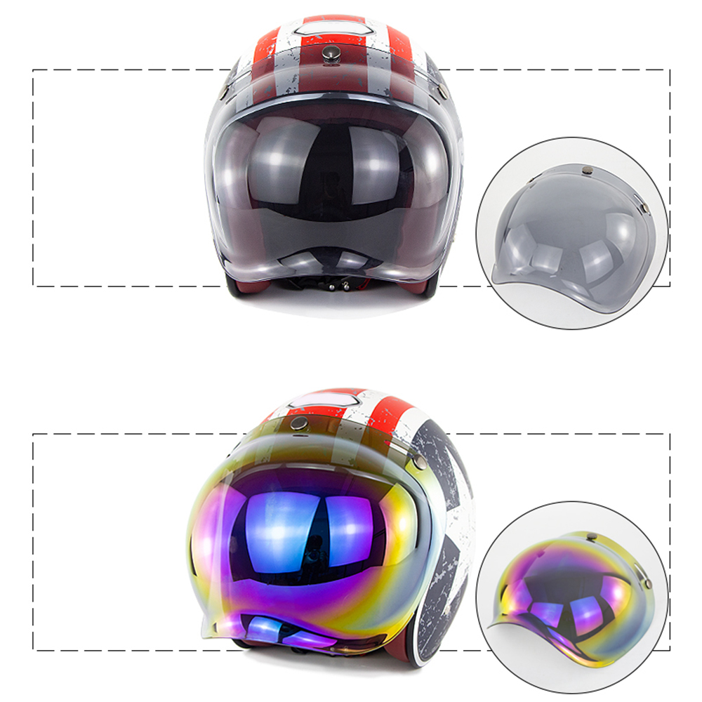 Universal Flip Up Lens Bubble Visor Face Shield Mask For Biltwell Vintage Retro Motorcycle Helmet Moto Capacete Casco Casque