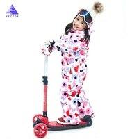 Winter Kids Ski Suit 2020 New Waterproof Warm Girls Snow Jacket Boys Snowboarding Clothes Children One piece Ski Suit 30 Degree