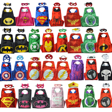 Marvel Avengers Glove Super Heros Cosplay Cloak Cape Shawl Captain America Spider man Thor Hulk Halloween Toy Eye Mask