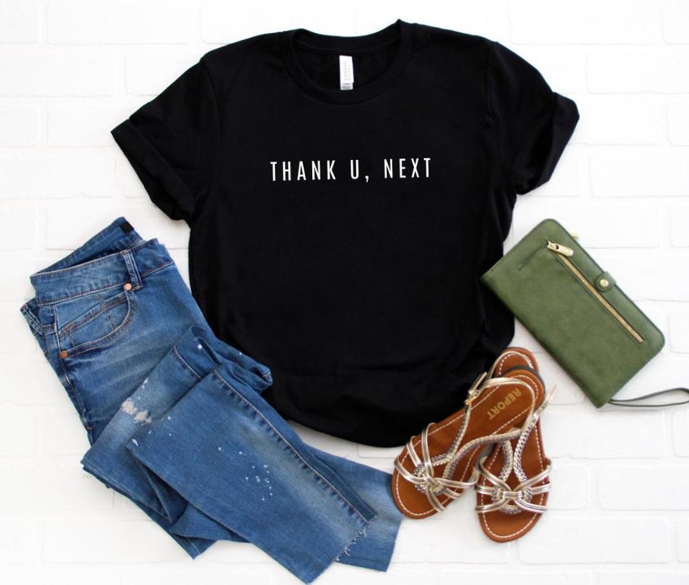 Thank U Next Letters Women Tshirt Cotton Casual Funny T Shirt Gift For Lady Yong Girl Top Tee Drop Ship S-918