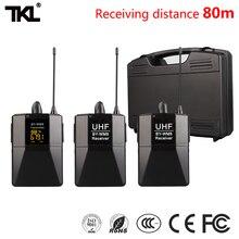 цена на TKL DSLR Camera Lapel Mic Transmitter Youtube Video Recording Wireless Microphone System Professional Receiver WM8