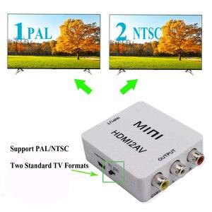 Image 4 - HDMI ל AV ממיר Scaler מתאם מרוכבים ממיר תיבת כדי RCA AV/CVSB L/R וידאו HD 1080P מיני HDMI2AV תמיכה NTSC PAL