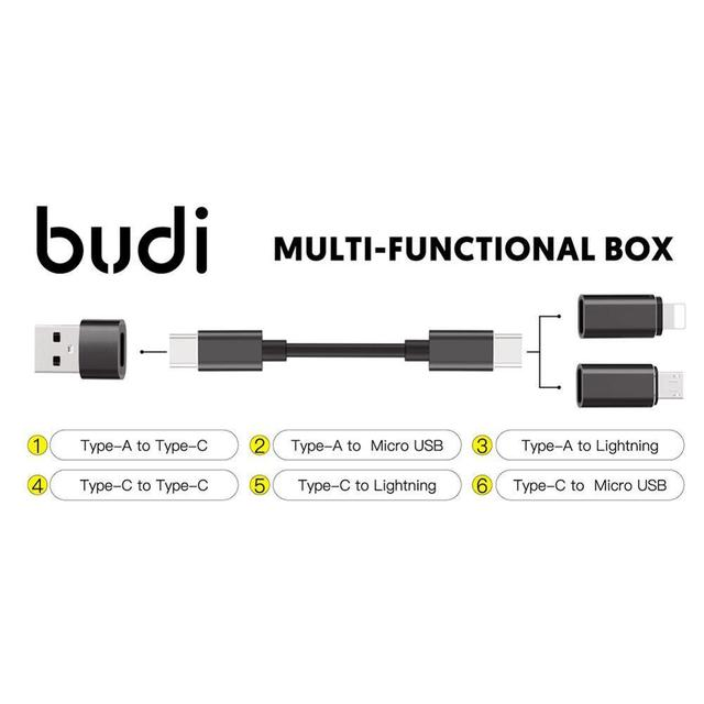 многофункциональный смарт адаптер budi набор типов карт памяти фотография