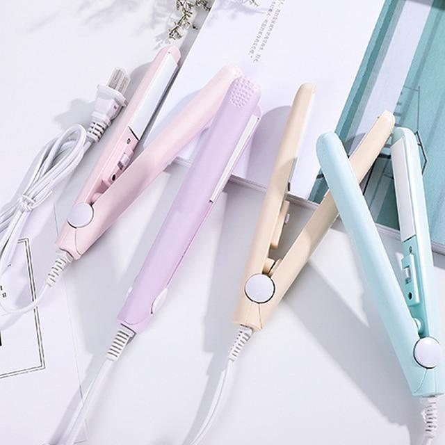 New Mini Hair Straightener Curling hair clipper Hair Crimper Curling Iron curly hair iron Hair Straightener Brush  Flat Iron 1