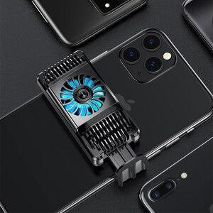 Image 2 - Stretchable נייד טלפון Cooler סמיקונדקטור רדיאטור קירור מאוורר Stand קירור למטה טמפרטורת מחזיק השתק עבור iPhone Huawei