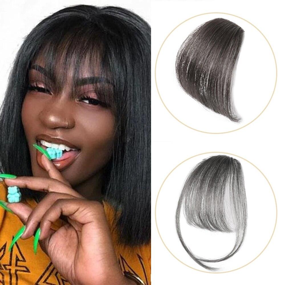 Изогнутые волосы челки, искусственные волосы bang100 % реальные remy человеческие волосы, наращивание волос, челка, темные светильник-коричневые ...