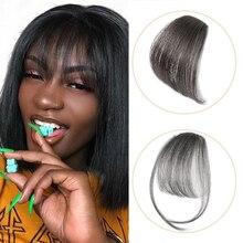 Hair-Extensions Bangs Curved-Hair-Bangs Fake-Hair Clip-In Brown Remy Dark/light Real