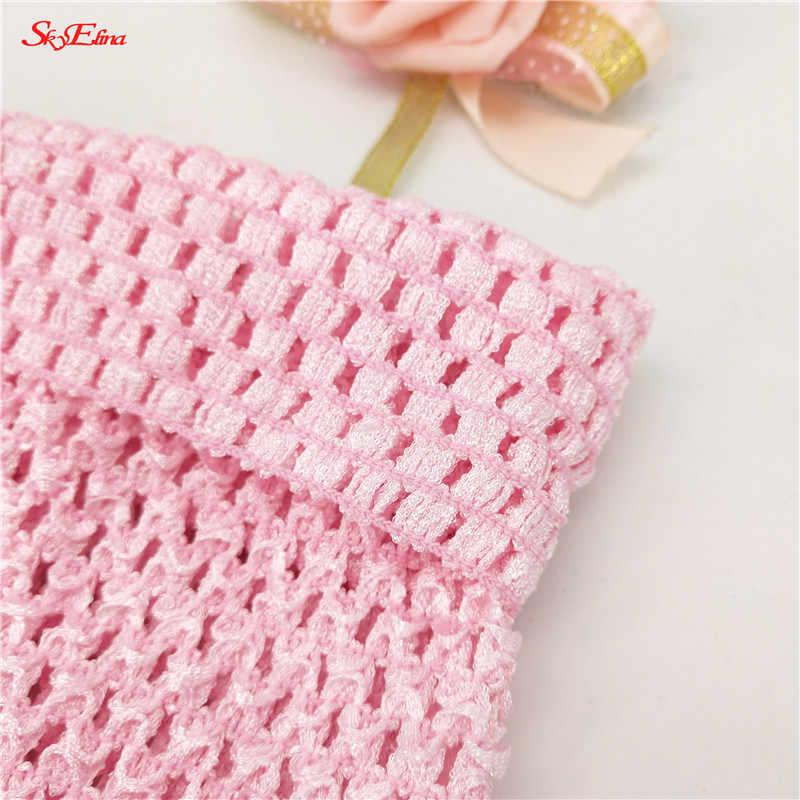 20X23cm elástico Crochet Wrap niña tela diademas de punto tutú tubo tapas DIY niños falda vestido accesorios regalo 5z