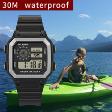Electronic Watches Men Fashion High-End Multi-Function 30M Sports Water