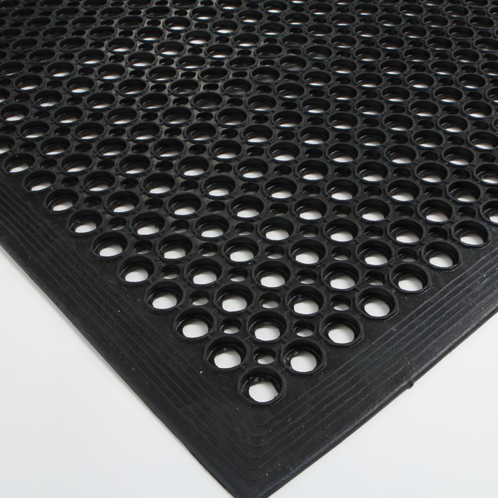 Tapis de sol Hexagonal caoutchouc antidérapant  Évacuation de la cuisine,  tapis de sol industriel 9*9cm Bar Estaurant
