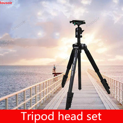Aluminum alloy tripod head set SLR camera tripod 555RII load 3.5Kg with QHD-53D set  CD50 T03