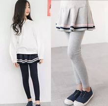 3 4 5 6 7 Năm Bé Gái Quần Mùa Xuân Thu Đông Hàn Quốc Váy Quần Legging Giả Hai Miếng Culottes Mới Tập Đi Cho Bé quần Dài Cho Bé Mới