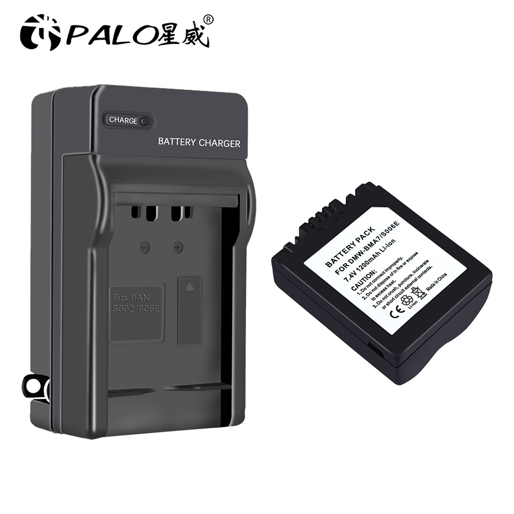 1200mAh, 7.4V, Li-Ion Replacement Battery /& Charger Set for Panasonic Lumix DMC-FZ50S Digital Camera
