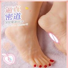 Вагина Мужская мастурбация секс-игрушки для мужчин 1:1 реальная модель ног с вагиной под женские ступни Фетиш Новинка товары для взрослых се...