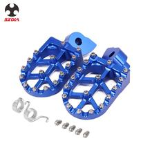 2021 Motorcycle Blue CNC Foot Pegs Pedal For Yamaha YZ 65 YZ85 YZ125 YZ250FX WR400F WR426F WR450F 1997 2000 2001 2008 2009
