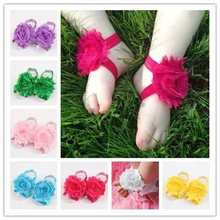 Baby Flower Foot Ring Shoes Infant Girls Boys First Walkers Foot Wear Newborn Photography Foot Accessories 0/24M(China)