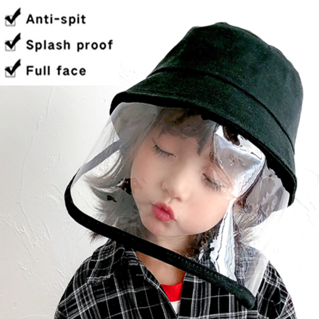 Kids Anti C19 Masks For Boys Girls with Hat dust-proof Anti Flu Baby Mask Outdoor Toddler Safety Protective mask D35 3