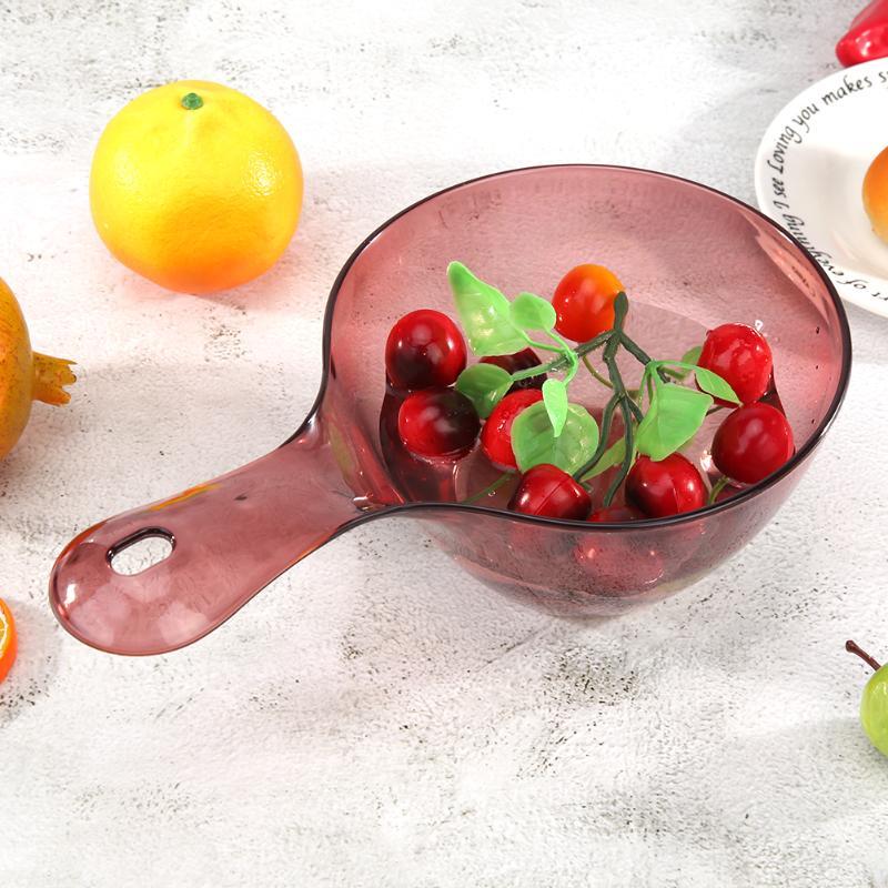 Ev ve Bahçe'ten Su Kepçeleri'de Yaratıcı şeffaf su pota plastik uzun saplı balya Anti skid ev moda mutfak ev Gadget malzemeleri title=