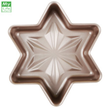 MyLifeUNIT Non-stick Snowflake Cake Pan Mold Bakeware Hex Star-Shaped Cake Bread Pan Kitchen DIY Baking Tools