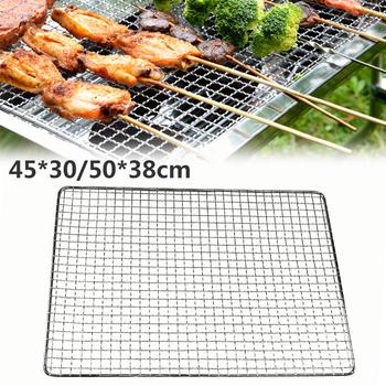 Grillowanie kosz BBQ narzędzie do grilla akcesoria do ryb stek warzywny mięso krewetki Grill BBQ Net tanie i dobre opinie dozzlor CN (pochodzenie) Basting szczotki
