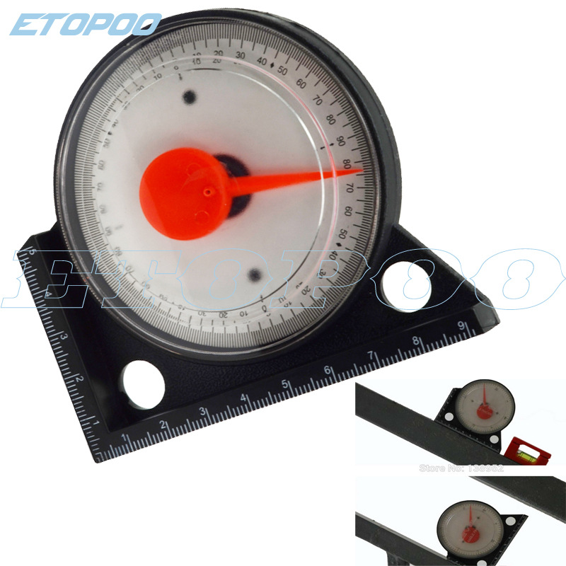 Multi-functional Plastic Angle Instrument Declinometer Measurement Angle Instrument Pointer With Scale Level Angle Instrument