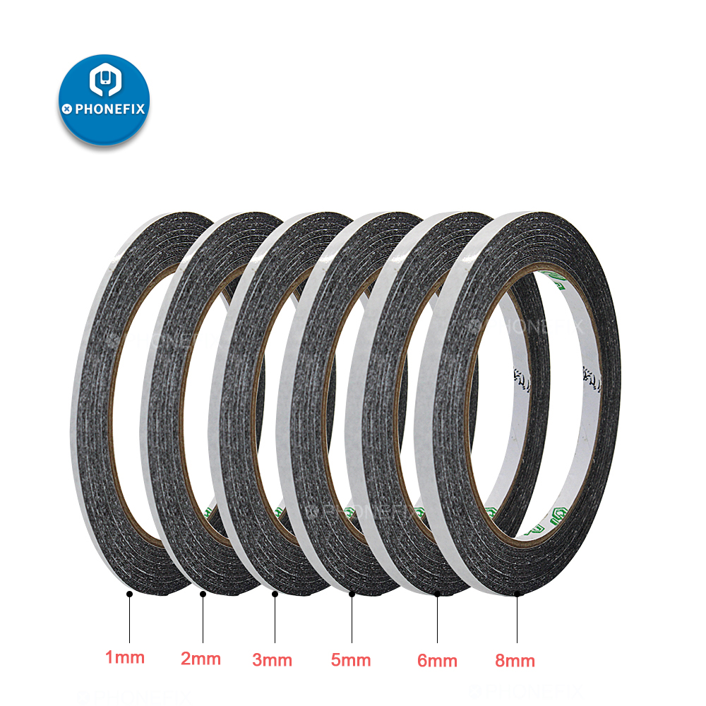 50M Black Sticker Double Sided Adhesive Tape Waterproof Sticker For Cell Phone Touch Screen LCD Display Digitizer Repair