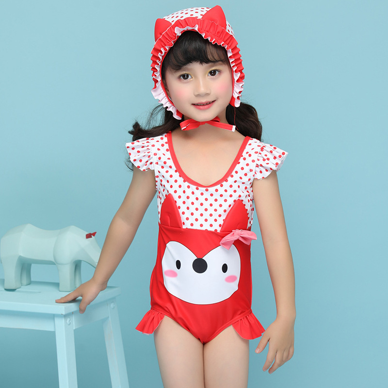 2018 New Style KID'S Swimwear Xiqi Brand Cartoon GIRL'S Swimsuit Female Baby Cute One-piece Swimming Suit